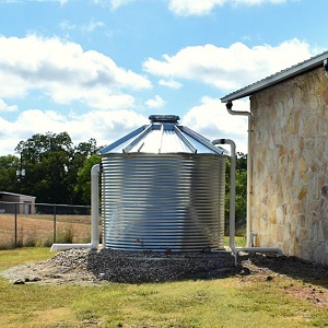 Rainwater Catchment Installed at the Library